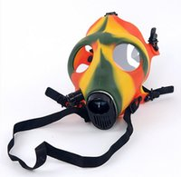 best gas masks - Party Hookah Gas Mask Bong Creative Gas Mask Pipes Tabacco Shisha Pipe for Acrylic Smoking Pipe Acrylic Bongs only mask best