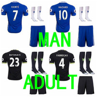 Wholesale Best quality Chelsea soccer shirt shorts socks shirts camisetas de futbol maillot de foot S M L XL