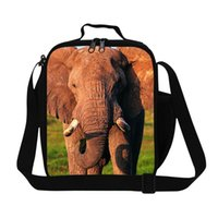 big lunch box - 2016 New Fashion Kids Lunch Bags D Animal Big Elephant Printing Lunch Box For Students Children Outdoor Picnic Food Snacks Bags