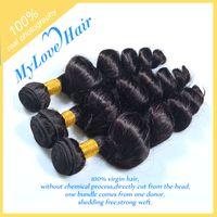 Wholesale Brazilian Hair Cheap A Peruvian Brazilian Indian Malaysian Hair Extension Virgin Hair Loose Wave Hair Weft inch