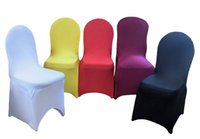Wholesale 2016 Universal Spandex Chair Covers China For Weddings Decoration Party Chair Covers Banquet Dining Chair Covers