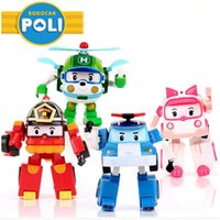 best gift boxes - 4pcs Set Robocar Poli Toy Korea Robot Car Transformation Toys Poli Robocar Toys Without Box Best Gifts For Kids