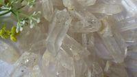 aa folk - AA Natural raw black crystal quartz stone festoon column ore point energy stones