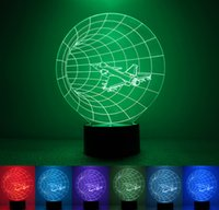 airplane christmas lights - 3D Lampshade With Airplane LED Night Light Colorful Change USB Charger Desk Hecoration Christmas Creative Gift Kids Toy Min Order1PCS