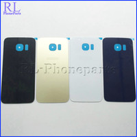 Bar adhesive logos - DHL Glass Battery Door Back Cover Housing Adhesive Sticker For Samsung Galaxy S6 edge G925F G925A G925T G925V G925P With logo