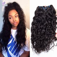 Wholesale Brazilian Virgin Human Hair Weave Natural Water Wave G Bundle Brazillian Virgin Hair Weave Wet And Wavy Brazilian Hair Extension