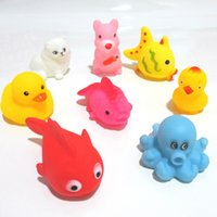 baby duck called - 2015 kids Rubber water toys toddler baby bath swimming toys yellow ducks Animal BB call sound dolls kids gift J071301 DHL FREESHIP
