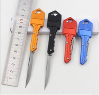 Wholesale Pocket Knife Multitool Knife Mini Pocket Military Small Folding Blade Key Chain ring fruit knife Outdoor Camping Hunting from Lomefo