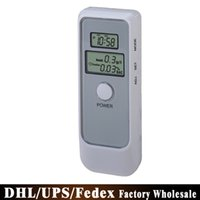 Wholesale Free DHL Fedex Detector Dual LCD Display Digital Alcohol Tester and Timer Analyzer Breathalyzer PFT