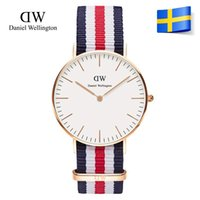 Wholesale Daniel Wellington Classic Canterbury Mens Watch Fashion Lady Watches Elegant men Watches popular nylon Strap Lovers Wristwatches Luxury