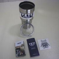 Wholesale 2016 hot popular Yeti oz oz oz Rambler Tumbler Bilayer Stainless Steel Insulation Cup OZ Cups Cars Beer Mug Large Capacity Mug