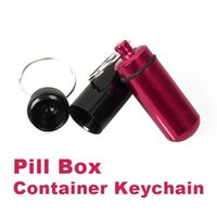 Wholesale EA14 Aluminum Pill Box Bottle Holder Container Keychain W