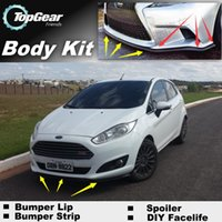Wholesale Bumper Lip Lips For Ford Fiesta ST Front Skirt Deflector Spoiler For Car Tuning The Stig Recommend Body Kit Strip
