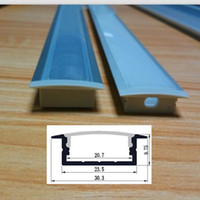aluminum mounting channel - 10pcs x m each per pack dual strip channel led aluminum profile for mm PCB embedded or ceiling mounted QC3110