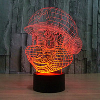 Wholesale USB charging color changing Nintendo Cartoon Game D Super Mario LED Night Light of Multicolor night lamp