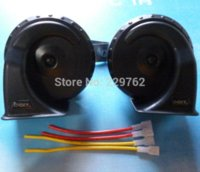 automobile horns - 12V powerful ringing voice db high quality electronic Automobile horn car snail horn Auto Universal Waterproof Claxon Horn M45116