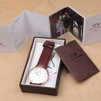 Wholesale With Box AAA Quqlity DW Watch Luxury Top Brand DanielWellington Women Men watches Leather Strap Gold Dial Couple Quartz Wristwatch Relojes