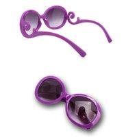 Wholesale JECKSION Fashion UV400 Retro Designer Super Round Circle Vintage Oversized Designer Semi Rimless Sunglasses Glasses Goggles