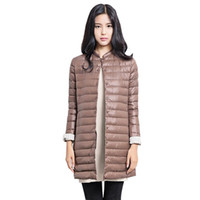 Wholesale Casual Parkas Ultralight Down Coat Women Winter Jacket Women s Down Jackets Long Thin Down Coat y