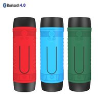 Wholesale Flashlight Waterproof Bluetooth Stereo Speakers With SD Card FM Radio Portable Wireless Audio Speaker For Riding Outdoor Sports