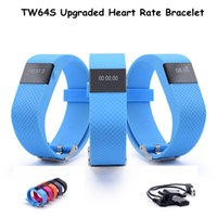 Wholesale Waterproof TW64S Sports Smart watches Bluetooth Bracelet smart band IP67 Heart Rate Monitor Wristband Fitness Tracker for Android iOS
