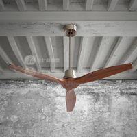Wholesale Modern American Dining Room Ceiling Fan With Remote Control Electric oak attic ceiling fan Home Decoration Fan Restaurant Fans