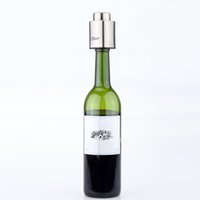wine accessories - 1 Stainless Steel Bottle Stopper Vacuum Sealed Red Wine Bottle Spout Liquor Flow Stopper Pour Cap Wine Tool Bar Accessories
