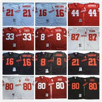 white rice - Throwback Steve Young Joe Montana Deion Sanders Ronnie Lott Rathman Jerry Rice Dwight Clark White Red Black San Francisco Jerseys
