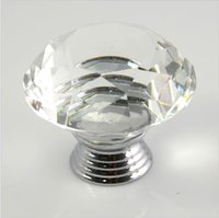 Wholesale 40pcs Pack mm Diamond Crystal Glass Door Drawer Cabinet Furniture Handle Knob Screw Furniture Accessories
