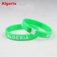 algeria sports - Algeria Sports Bracelet Algeria Fans Silicone Wristbands Algeria Football Basketball Baseball Cheer Supplies Souvenir