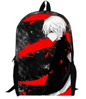 animated backpack - New hot sale Tokyo ghoul bag students animated cartoon backpack Middle and primary school backpack Anime peripheral
