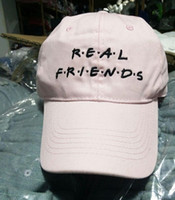 Ball Cap Unisex Spring & Fall Real Friends 6 Panel Hat - cap - vaporwave - tumblr- dad - sega yung lean gosha i think about you something caps i miss you hats i love you