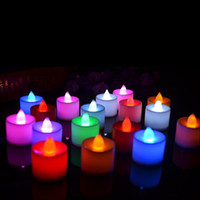 Wholesale 24PCS romantic Polypropylene Plastic Colors Candle Shape LED Fliker Flameless Candle Light For Wedding Party Holiday Decoration