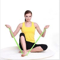 Wholesale 20 Pilates Yoga Sports Workout Aerobics Stretch Tensile Elastic Band TPE belt yoga belt tension Yoga belt rope tensile zone