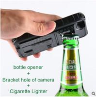 apple bottle opener - High Quality New multifunctional Armor Case Bottle Opener Cigarette Lighter Shatterproof Back Cover Case For IPhone s SE OPP Bag