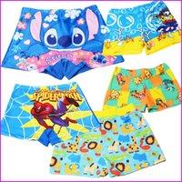 Wholesale 2016 Newest baby swimsuit children boy cartoon Boxer swimming trunks with belt beach hot springs Children swimming trunks