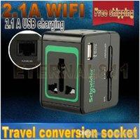 Wholesale 100pcs Wireless exclusive Universal A WIFI travel conversion socket Convenien Quick V