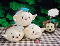 Wholesale TS Little Pigs and the Big Bad Wolf mobile screen cleaner wiper key chain bag hanger UM plush toys gift