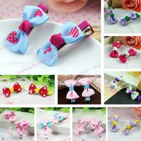 barrette for sell - Hot Selling Korean Fashion Cute Bowknot Hairpins For Girls Mix Color Children Barrettes Baby Hair Clips Kids Hair Accessories