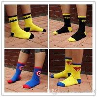 animated socks - DHL Batman superman animated cartoon design men socks cotton individuality creative street in trend of the cotton socks WZ09