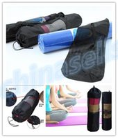 Wholesale hot yoga popular Portable Yoga Mat Bag Polyester Nylon Mesh black backpack for health beauty sports Storage bag