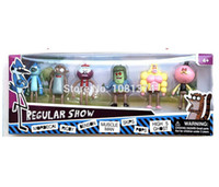 action man muscle - NEW ARRIVAL set Regular Show Cartoon Action Figures cm Mordecal Rigby Benson Muscle Man Skips Pops Toys For Kids