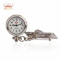 Wholesale Wavors Unisex Pocket Watch Timer Alloy Doctor Nurse Quartz Watch With Clip Watches Gift