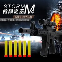 gun safe - M4A1 assault rifle plastic guns toy EVA Foam bullets Imitation for kids Safe sniper rifle toy Submachine gun CS Game