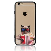 animal cell phone cases - Black Border Cell Phone Cases for Iphone4 S Splus Creative Cool Animals TPU PC Mobile Phone Cases