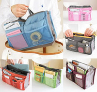 Wholesale 14 Colors Christmas Women Lady Travel Cosmetic makeup bag Insert Handbag Purse Large liner Tote Organizer Dual Storage Amazing make up bags