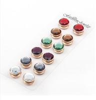 beautiful hijab pins - 12pcs beautiful brooch muti color romantic shiny magnet soft leather brooch hijab muslim pin