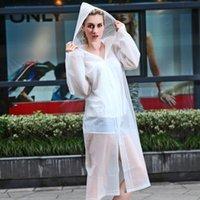 Wholesale 300PCS Fashion Women EVA Transparent Raincoat Poncho Portable Light Raincoat NOT Disposable Rain Coat For Adult