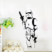 american silhouette - Star Wars Large Wall Sticker Silhouette DIY Decals Home Decoration Mural Removable Bedroom Stickers