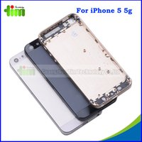 assembly trays - Original Metal Back Housing Cover with Buttons Card Tray for iphone g Housing Mid Frame Battery Door Cover Assembly with LOGO Tim4
